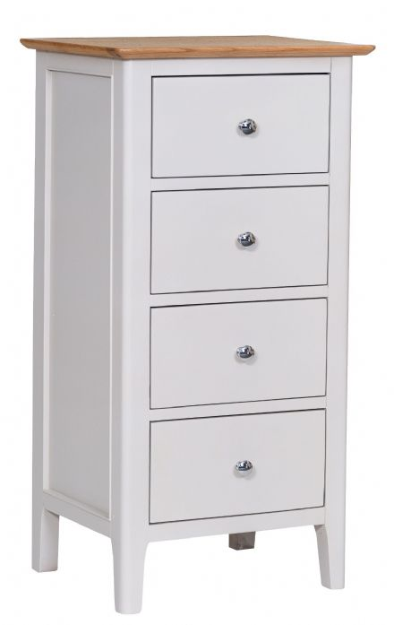 Newhaven Grey Painted 4 Drawer Narrow Chest